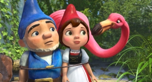 """GNOMEO AND JULIET"" (L-R) Gnomeo, Juliet, Featherstone ©2010 Touchstone Pictures. All Rights Reserved."