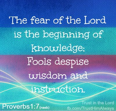Proverbs 1:7 – Color & Light