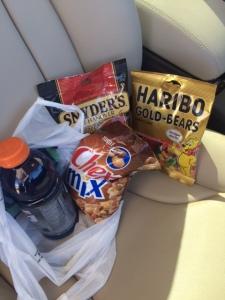 road trip snakcs